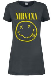Nirvana - Amplified Collection - Smiley - Miniabito - Donna - carbone