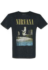 Nirvana - Stage Jump - T-Shirt - Uomo - nero