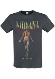 Nirvana - Amplified Collection - In Utero - T-Shirt - Uomo - carbone