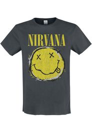 Nirvana - Amplified Collection - Worn Out Smiley - T-Shirt - Uomo - carbone