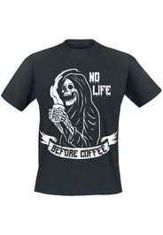 No Life Before Coffee -  - T-Shirt - Uomo - nero