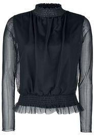 Outer Vision - Iris Women's Top - Maglia a maniche lunghe - Donna - nero