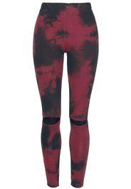 Outer Vision - Lidia Leggings - Leggings - Donna - rosso nero