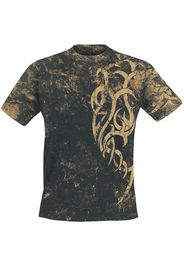 Outer Vision - Marble Tattoo - T-Shirt - Uomo - nero