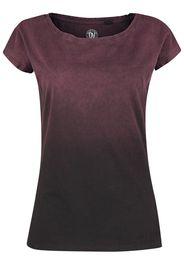 Outer Vision - Marylin - T-Shirt - Donna - grigio rosso vinaccia