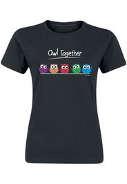 Owl Together -  - T-Shirt - Donna - nero