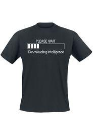 Please Wait - Downloading Intelligence -  - T-Shirt - Uomo - nero