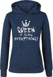 Queen Of Fucking Everything -  - Felpa con cappuccio - Donna - blu scuro