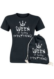 Queen Of Fucking Everything -  - T-Shirt - Donna - nero