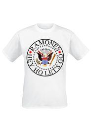 Ramones - Colour Eagle Hey Ho Let's Go - T-Shirt - Uomo - bianco