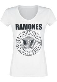Ramones - Eagle Logo - T-Shirt - Donna - bianco