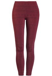 RED by EMP - Sport and Yoga - Red Leggings with All-Over Print - Leggings - Donna - bordeaux