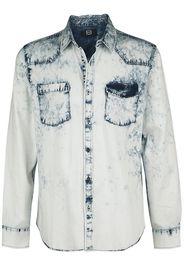 RED by EMP - blaues Jeanshemd mit Waschung und Brusttaschen - Camicia di jeans - Uomo - blu