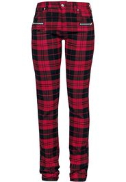 RED by EMP - Skarlett - red/black checked trousers - Pantaloni - Donna - rosso nero