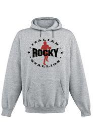 Rocky - Italian Stallion - Felpa con cappuccio - Uomo - grigio sport