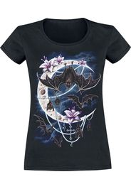 Sarah Richter - Bats Moon - T-Shirt - Donna - nero