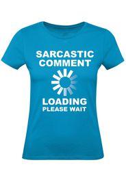 Sarcastic Comment -  - T-Shirt - Donna - azzurro