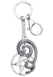 Schlangen Pentagramm -  - Pendente portachiavi - Donna - colore argento