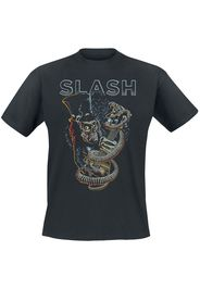 Slash - Guitar Skull - T-Shirt - Uomo - bianco