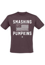 Smashing Pumpkins - Zeitgeist Flag - T-Shirt - Uomo - rosso scuro