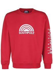 Southpole - 3D Crewneck - Felpa - Uomo - rosso