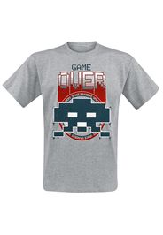 Space Invaders - Game Over - T-Shirt - Uomo - grigio