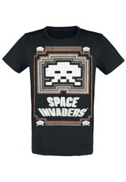 Space Invaders - Glowing Invader - T-Shirt - Uomo - nero