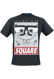 SpongeBob SquarePants - It's Hip To Be Square - T-Shirt - Uomo - nero