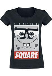 SpongeBob SquarePants - Square - T-Shirt - Donna - nero
