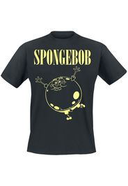 SpongeBob SquarePants - Nevermind - T-Shirt - Uomo - nero