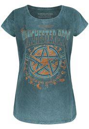 Supernatural - Winchester Bros. - T-Shirt - Donna - verde acqua