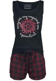 Supernatural - Carry On - Pigiama - Donna - nero rosso