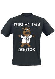 Trust Me, I'm A Dogtor -  - T-Shirt - Uomo - nero