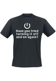Turning It Off -  - T-Shirt - Uomo - nero