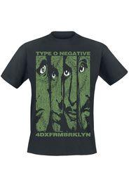 Type O Negative - Faces - T-Shirt - Uomo - nero