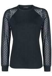 Vive Maria - Wonder Tulle Shirt - Maglia a maniche lunghe - Donna - nero