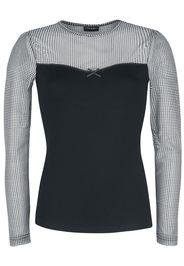Vive Maria - My Sophia Tull Shirt - Maglia a maniche lunghe - Donna - nero bianco
