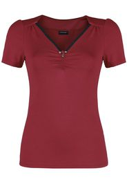 Vive Maria - Red Lilly Shirt - T-Shirt - Donna - rosso
