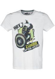 What If...? - Zombie Captain America - T-Shirt - Uomo - bianco