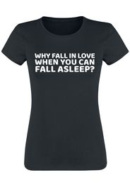 Why Fall In Love... -  - T-Shirt - Donna - nero