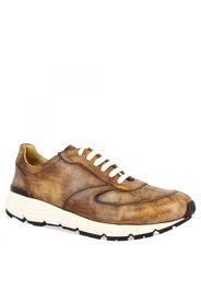 Sneakers Leo's Napoli da uomo fatte a mano in pelle marrone vintage LEOS NAPOLI MARRONE VINTAGE