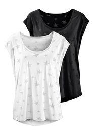 BEACH TIME Maglietta  grigio argento / nero / bianco