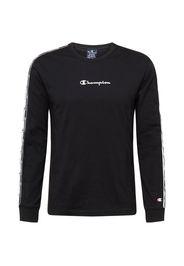 Champion Authentic Athletic Apparel Maglietta  nero / bianco / grigio