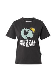 DEDICATED. Maglietta 'Mysen All We Have Charcoal'  nero / menta / giallo / bianco