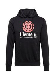 ELEMENT Felpa  nero / rosso pastello / bianco