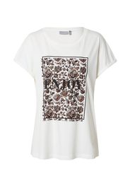 Fransa Maglietta 'BETEE'  bianco / nero / marrone / cioccolato