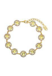 LILY AND ROSE Braccialetto 'Miranda'  limone / trasparente / oro