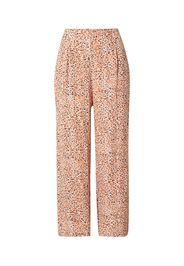 MINKPINK Pantaloni con pieghe 'NEVAEH'  bianco / rosa / nero / arancione