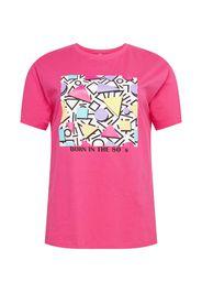 Mister Tee Curvy Maglietta  rosa / bianco / lilla / giallo / nero
