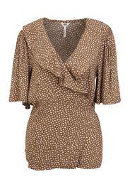 OBJECT Tall Camicia da donna 'BOBBIE'  marrone / bianco